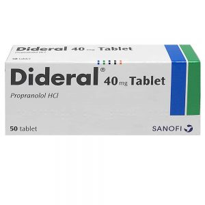 Dideral (Propranolol Hydrochloride) - 40mg x 50 Tablets